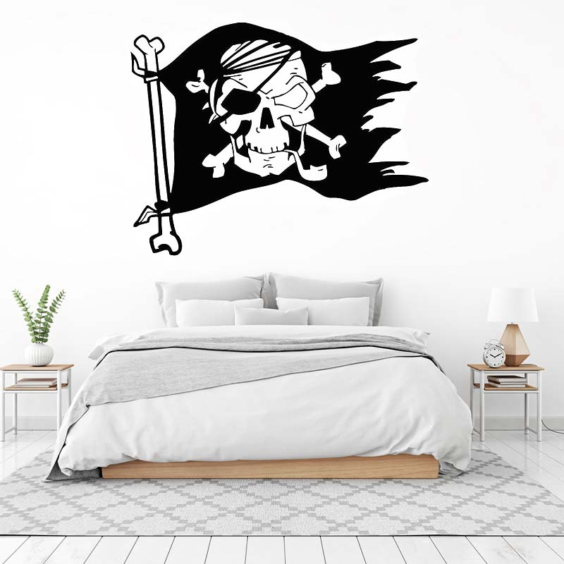 Stickers Drapeau Pirate - Jolly Roger