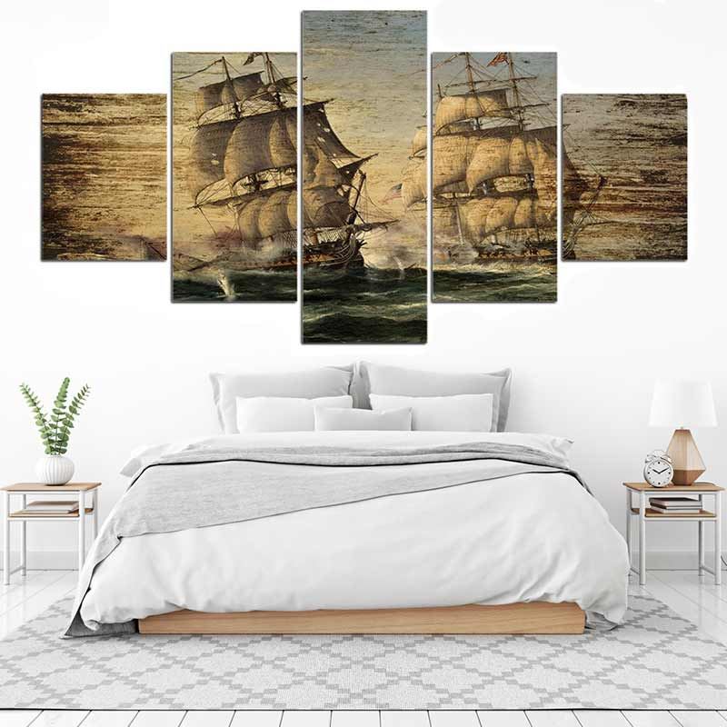 Tableau Bataille Navale Pirates - Jolly Roger
