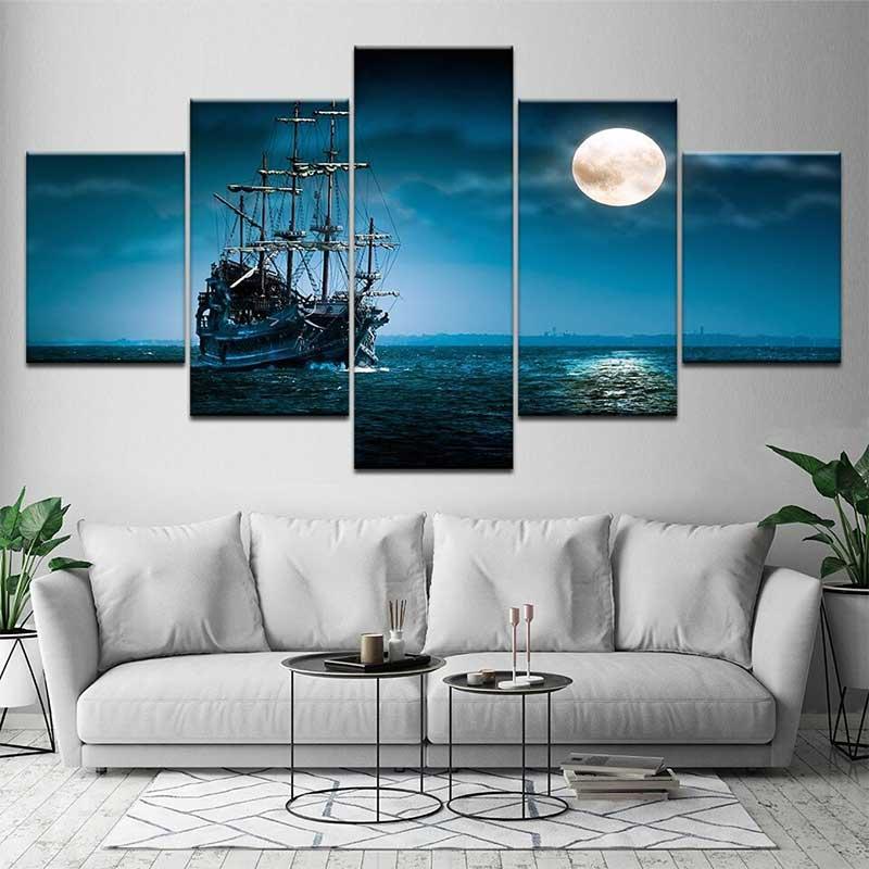 Tableau Bateau Pirate - Jolly Roger