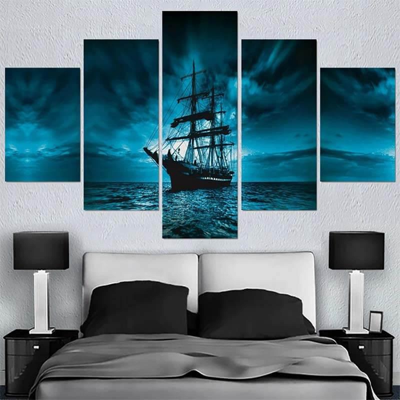 Tableau de Bateau Pirate - Jolly Roger