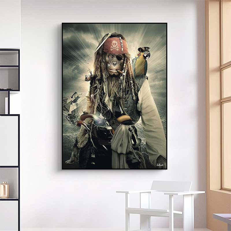 Tableau Pirate Art - Jolly Roger