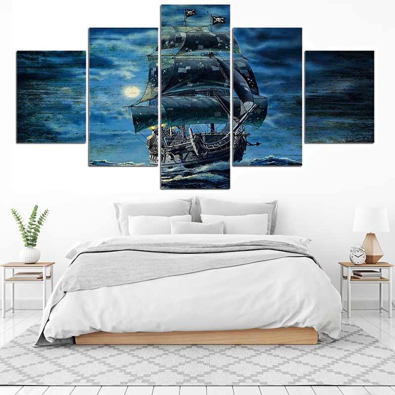 Tableau vaisseau pirate - Jolly Roger