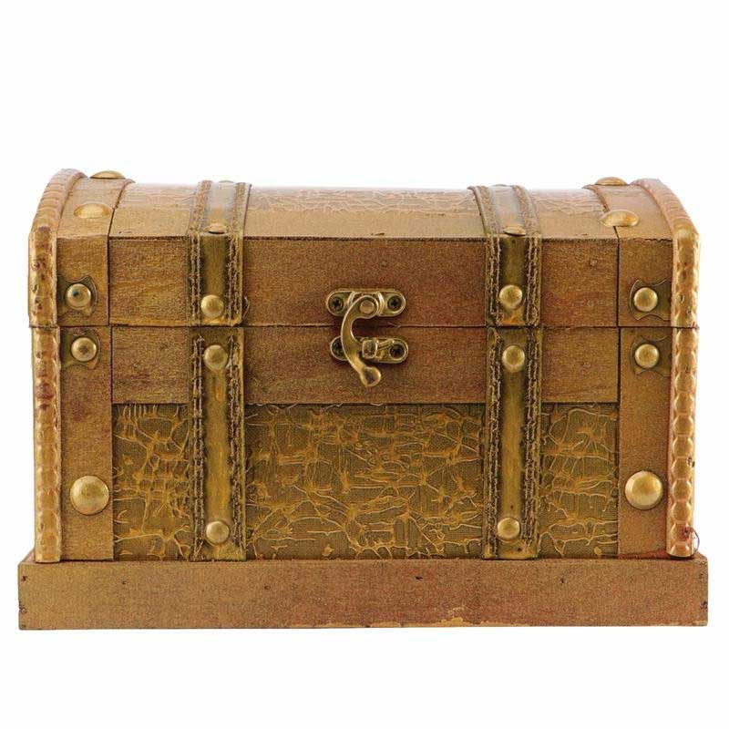 Vrai coffre au trésor coffre en bois boite pirate - Jolly Roger
