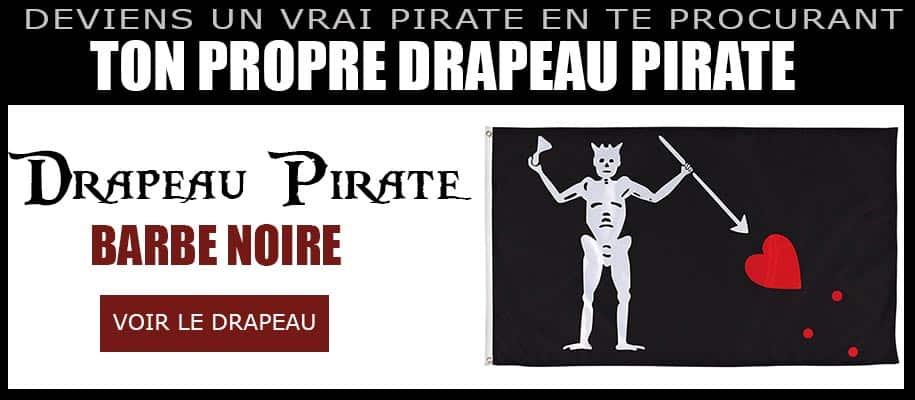 Drapeau pirate barbe noire
