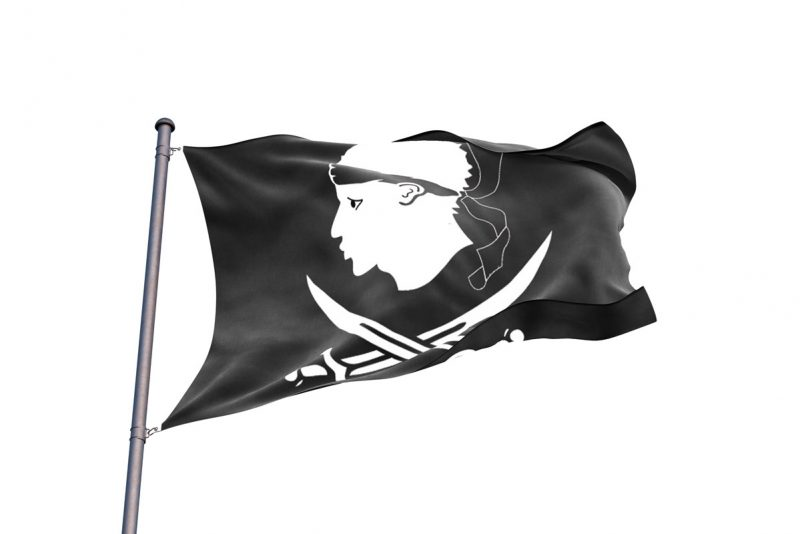 Drapeau Corse Pirate - Jolly Roger