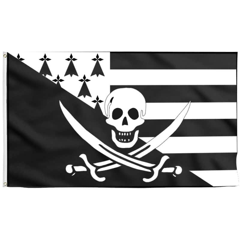 Drapeau Pirate Breton - Jolly Roger