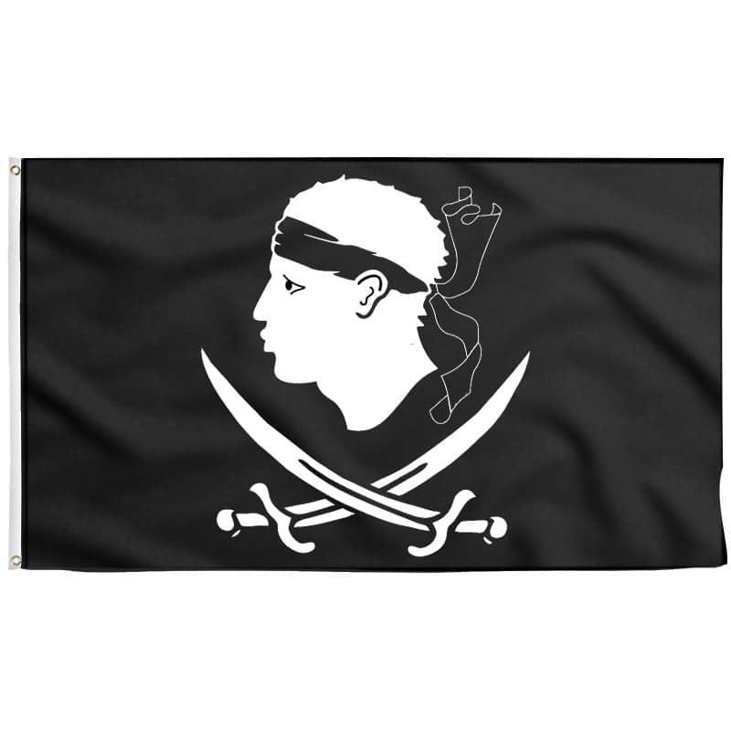 Drapeau Pirate Corse - Jolly Roger