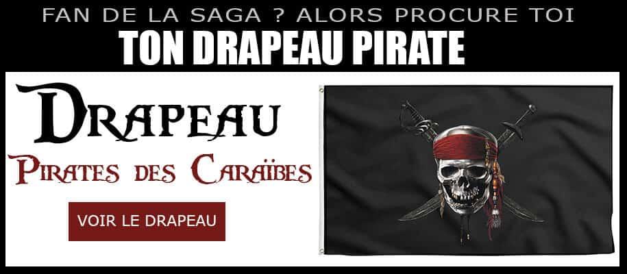 Drapeau Pirate des Caraïbes - Drapeau Pirates des Caraïbes - Pavillon Pirate des Caraïbes