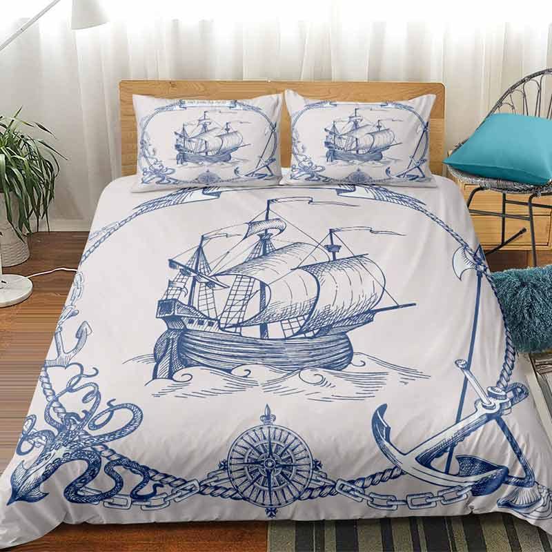 Housse de Couette Bateau Pirate - Jolly Roger