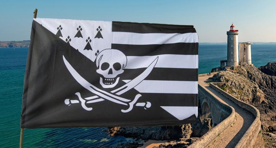 Image le drapeau de pirate breton - Jolly Roger