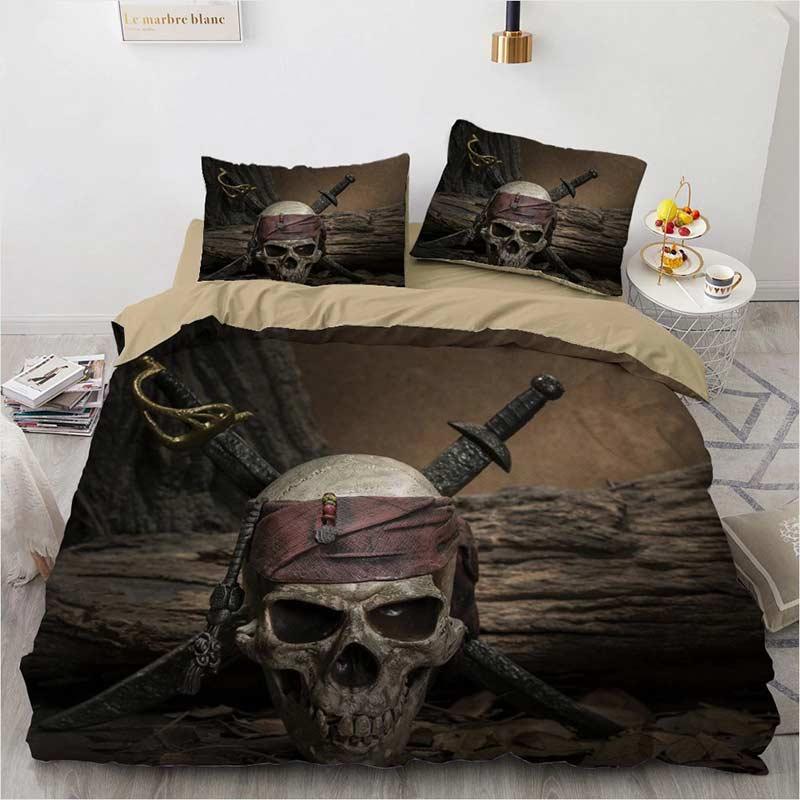 Parure de lit Pirate des Caraïbes - Jolly Roger