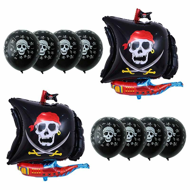 Ballon Pirate Anniversaire - Jolly Roger