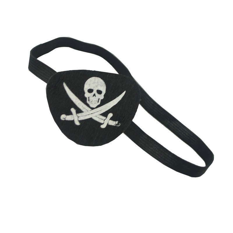 Bandeau Cache Oeil Pirate - Accessoire Pirate - Jolly Roger