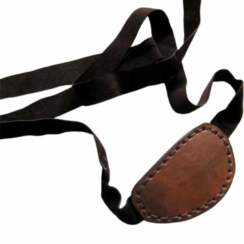 Cache Oeil Pirate Cuir - Accessoire Pirate - Jolly Roger