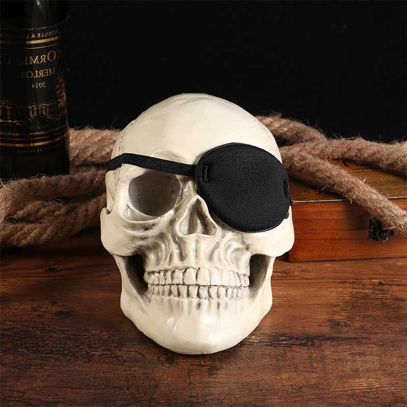 Cache Oeil Pirate Tissu - Accessoire Pirate - Jolly Roger