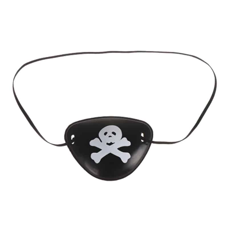Cache Oeil Plastique Pirate - Accessoire Pirate - Jolly Roger