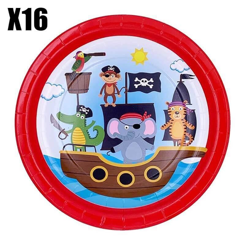 Déco anniversaire bébé pirate - Jolly Roger