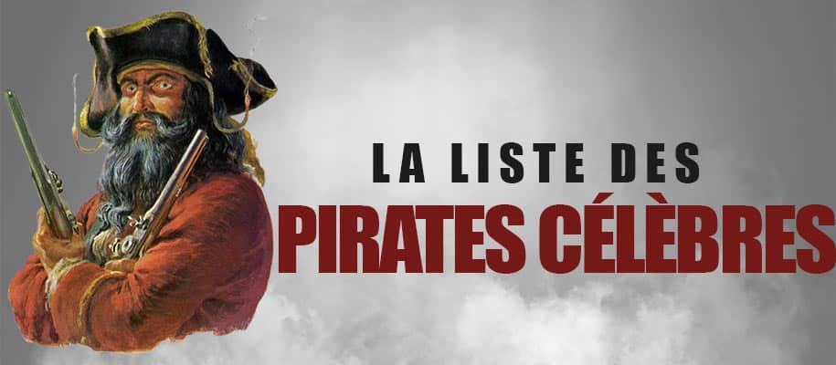 liste des pirates célèbres
