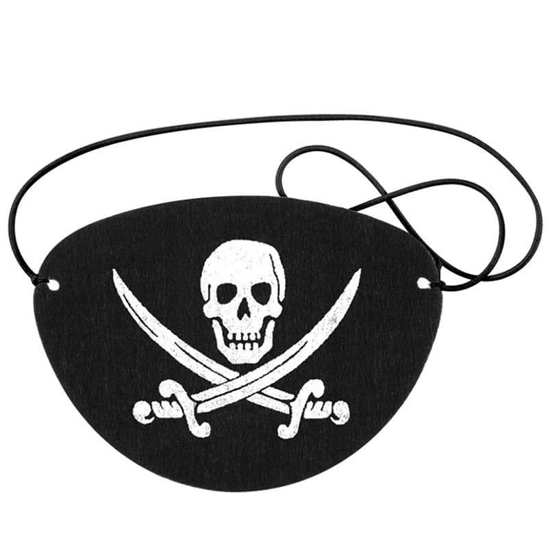 Lot Cache Oeil Pirate - Accessoire Pirate - Jolly Roger