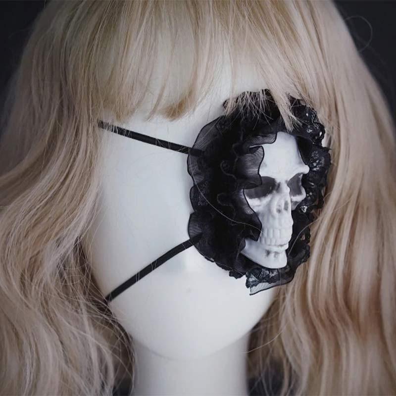 Tête de Mort Cache Oeil - Accessoire Pirate - Jolly Roger