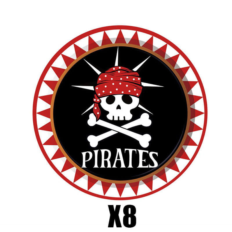 Vaisselle jetable pirate - Jolly Roger