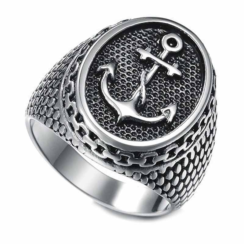 Bague Ancre Marine - Bague Pirate - Jolly Roger