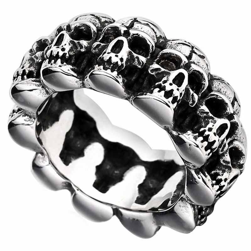 Bague Crâne Pirate Homme - Bague Pirate - Jolly Roger