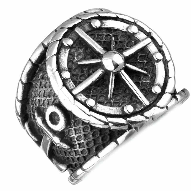 Bague de Gouvernail - Bague Pirate - Jolly Roger