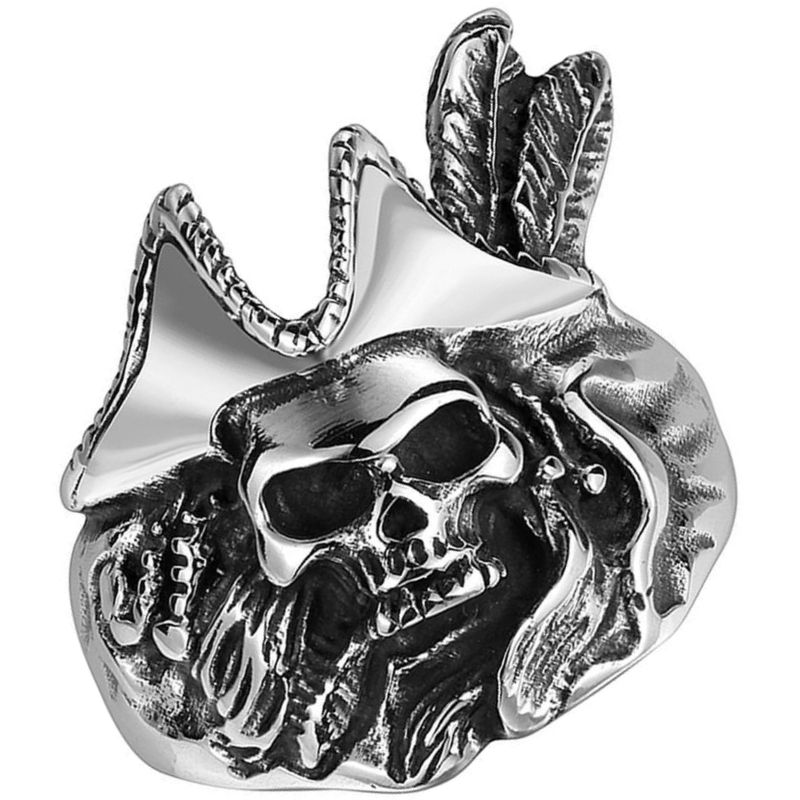 Bague Homme Tête de Pirate - Bague Pirate - Jolly Roger
