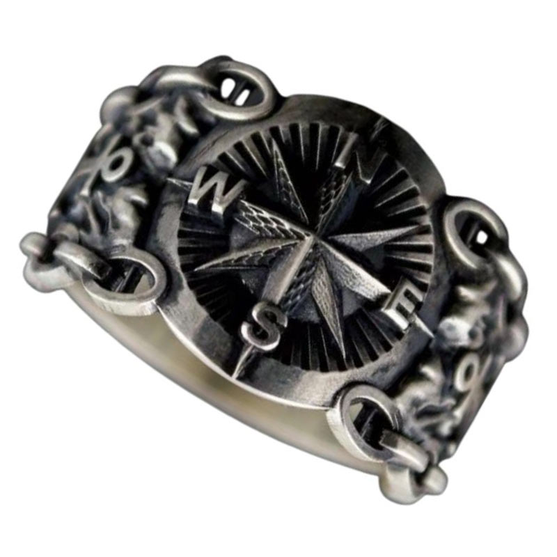 Bague Solitaire Pirate - Bague Pirate - Jolly Roger