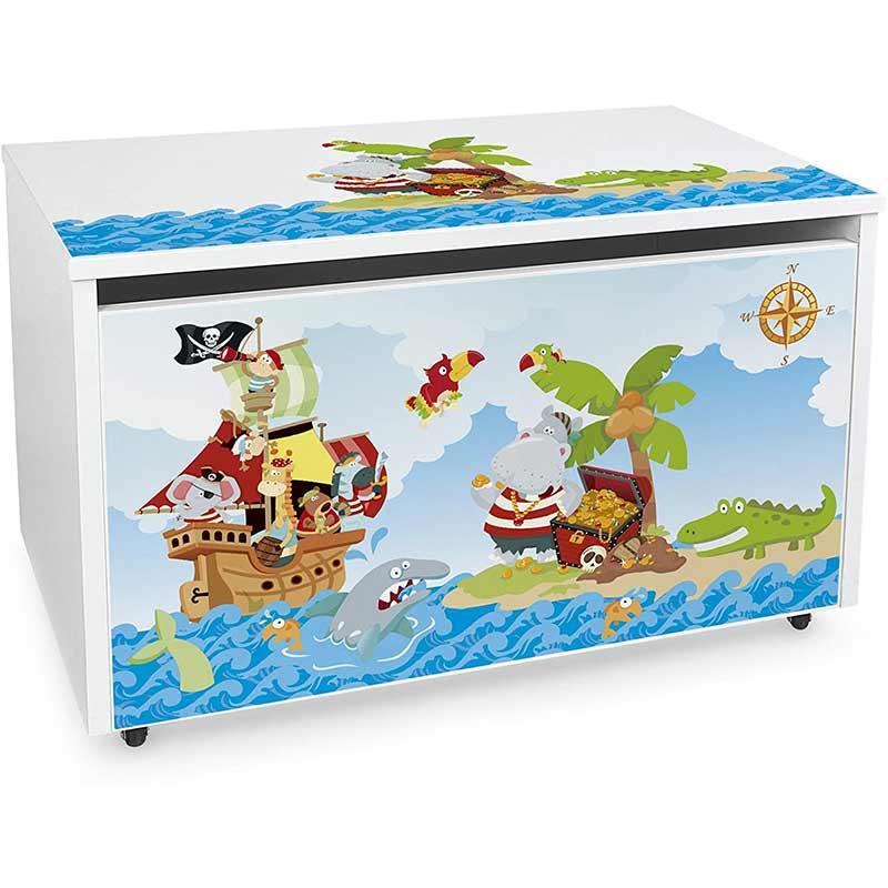 Grand Coffre à Jouet Pirate - Coffre Pirate - Jolly Roger