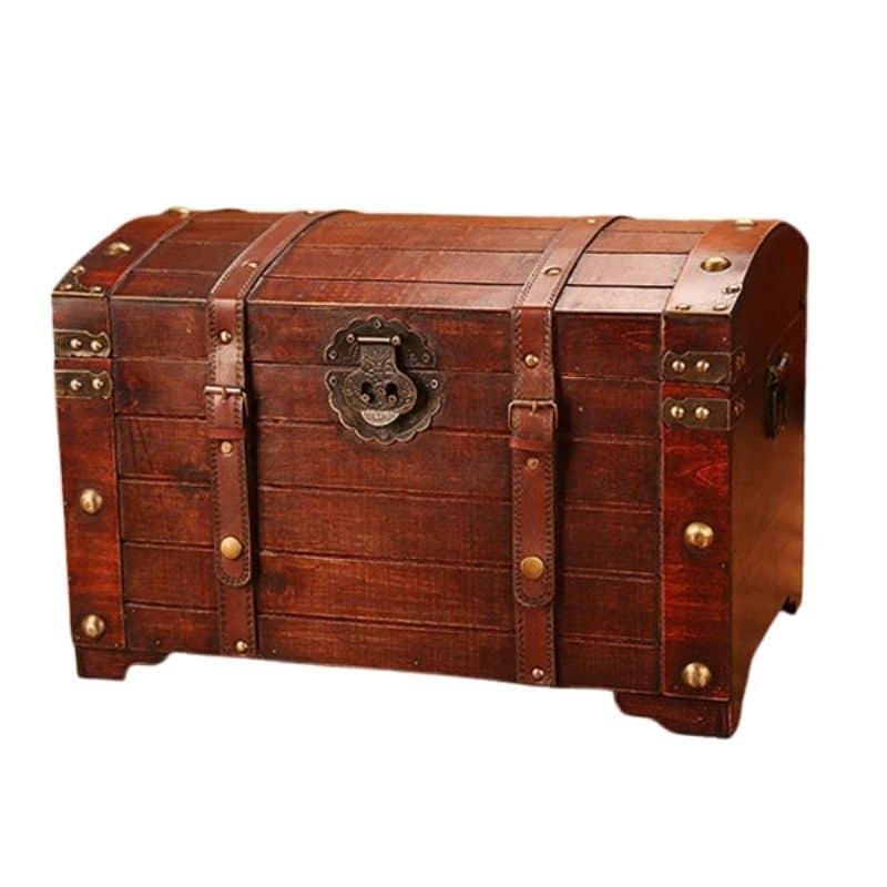 Grand Coffre de Pirate en Bois - Coffre Pirate - Jolly Roger