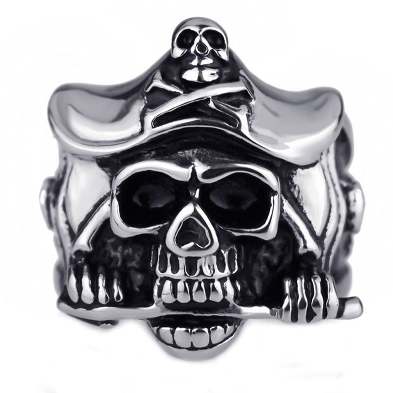 Grosse Bague Pirate Homme - Bague Pirate - Jolly Roger