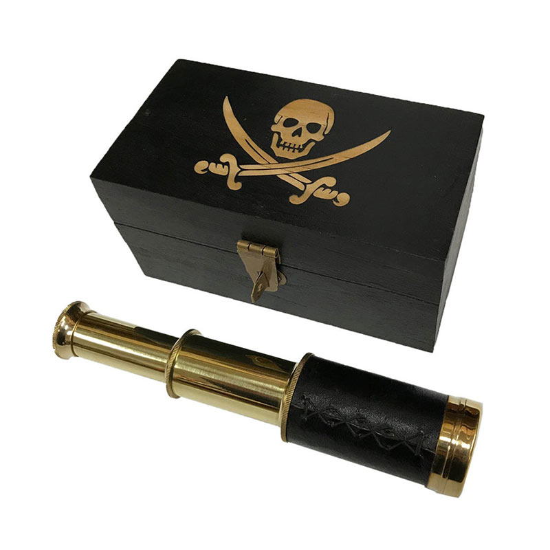 Longue Vue Pirate Ancienne - Accessoire Pirate - Jolly Roger