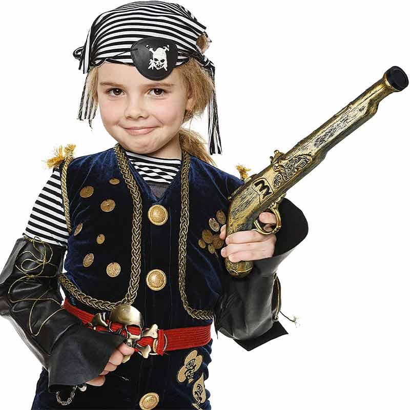 Pistolet de Pirate Jouet - Accessoire Pirate - Jolly Roger