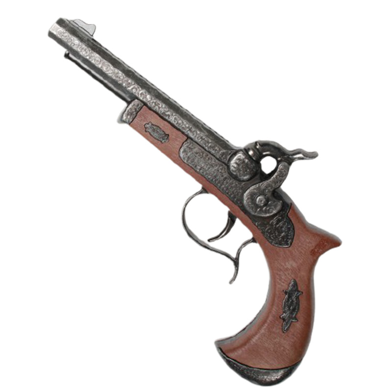Pistolet double canon Pirate - Accessoire Pirate - Jolly Roger