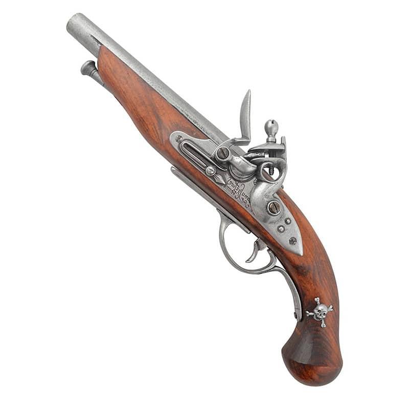 Reproduction Arme Ancienne de Pistolet de Pirate - Accessoire Pirate - Jolly Roger