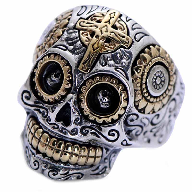 Bague Argent Crâne Mexicain - Bague Pirate - Jolly Roger