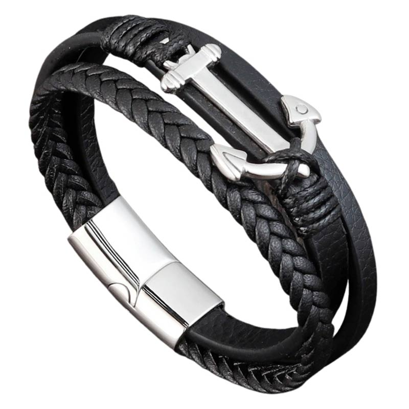 Bracelet Ancre Marine Homme - Bracelet Pirate - Jolly Roger