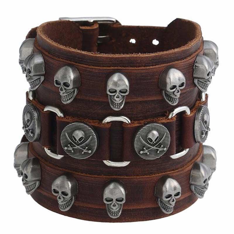 Bracelet Cuir Pirate - Bracelet Pirate - Jolly Roger