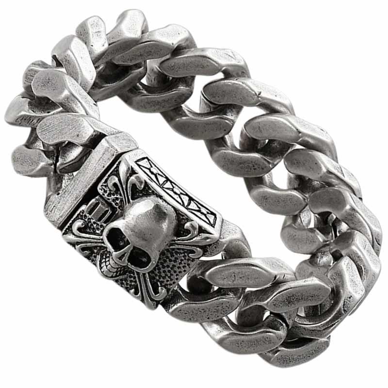 Bracelet Flibustier Tête de Mort - Bracelet Pirate - Jolly Roger