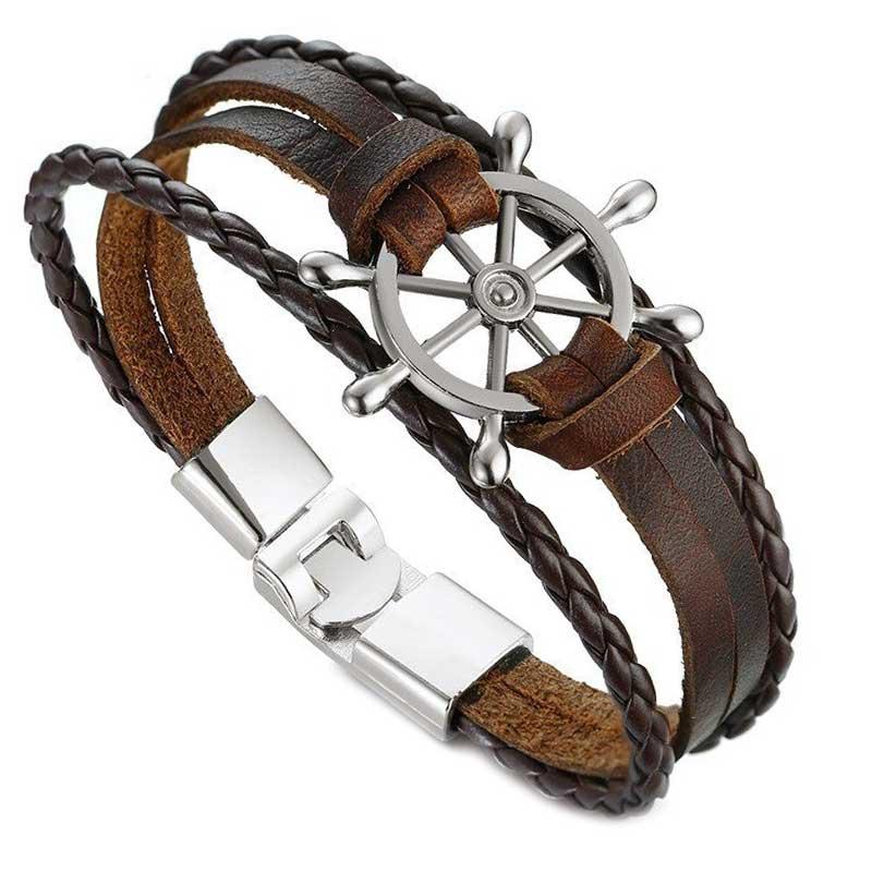 Bracelet Gouvernail - Bracelet Pirate - Jolly Roger