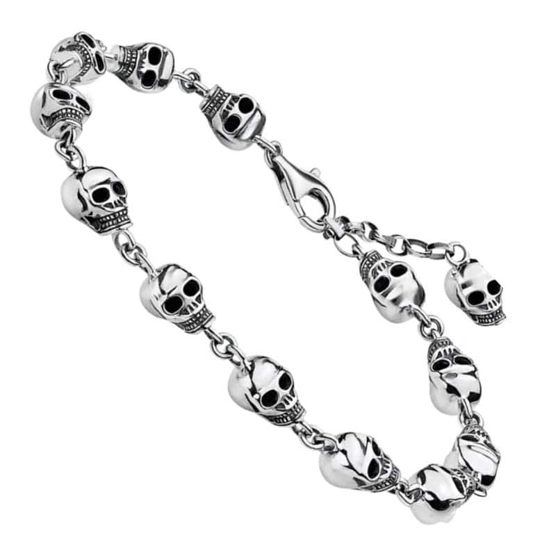 Bracelet Pirate Argent - Bracelet Pirate - Jolly Roger