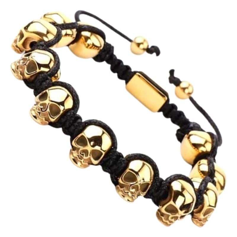 Bracelet Shamballa Crâne - Bracelet Pirate - Jolly Roger