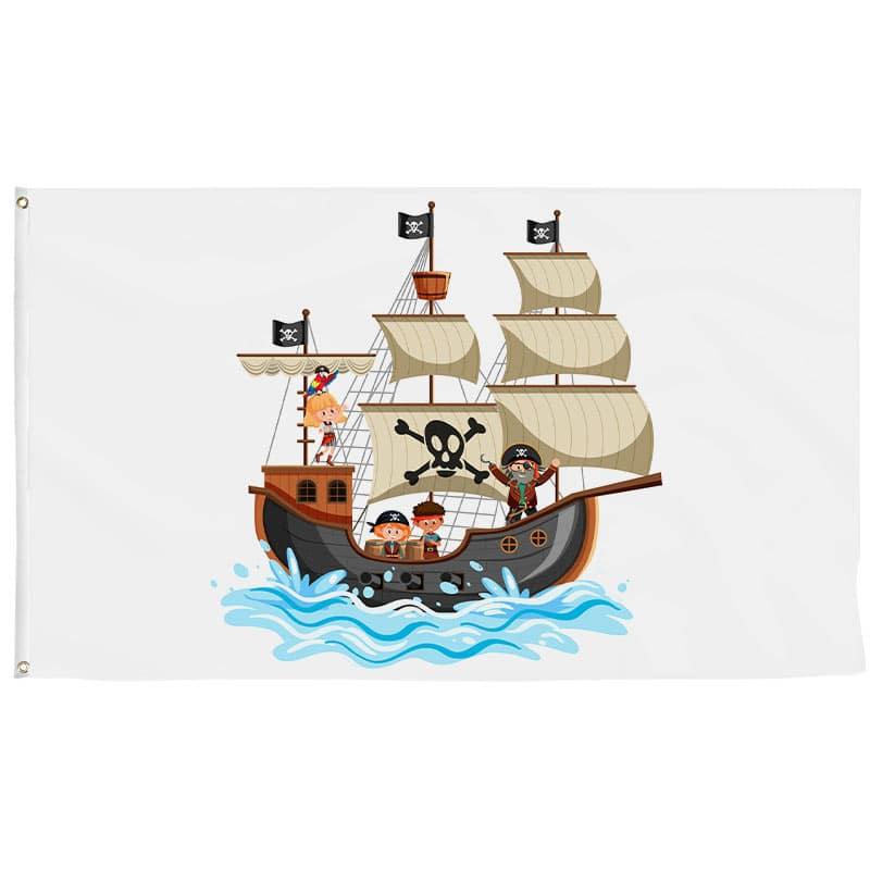 Drapeau Bateau Pirate Enfant - Drapeau Pirate - Jolly Roger