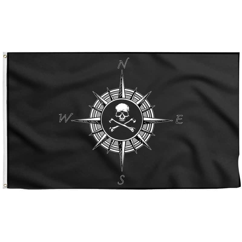 Drapeau Boussole - Drapeau Pirate - Jolly Roger