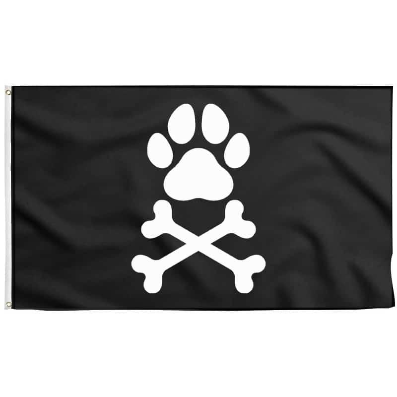 Drapeau Chien Pirate - Drapeau Pirate - Jolly Roger