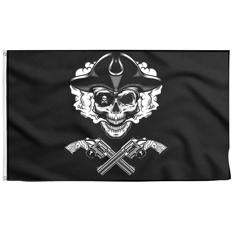 Drapeau des Pirates Pistolet - Drapeau Pirate - Jolly Roger