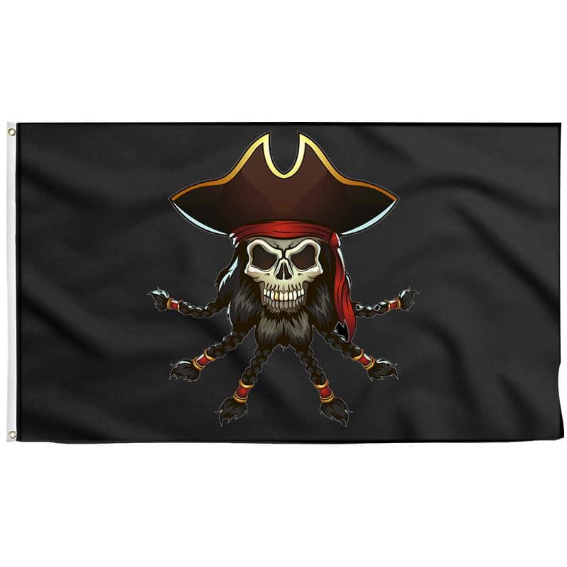Drapeau Edward Teach - Drapeau Pirate - Jolly Roger