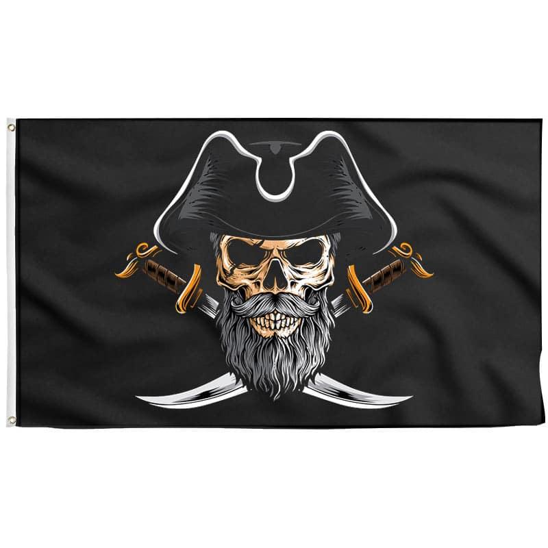 Drapeau Pirate avec Tricorne - Drapeau Pirate - Jolly Roger